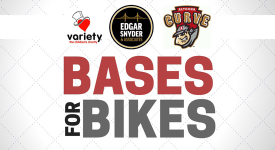 'Bases for Bikes' with the Altoona Curve