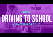 driving to school