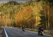 Autumn motorcycle riding