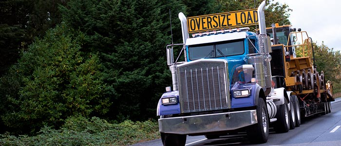 Oversize Load - Tract Trailer