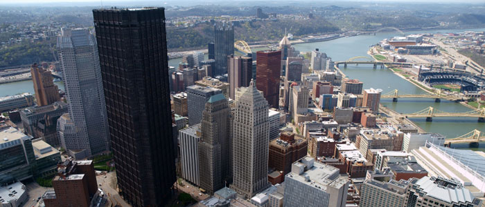 City of Pittsburgh - Birds Eye view