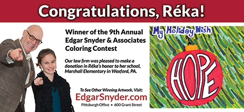 billboard featuring 2012 coloring contest winner