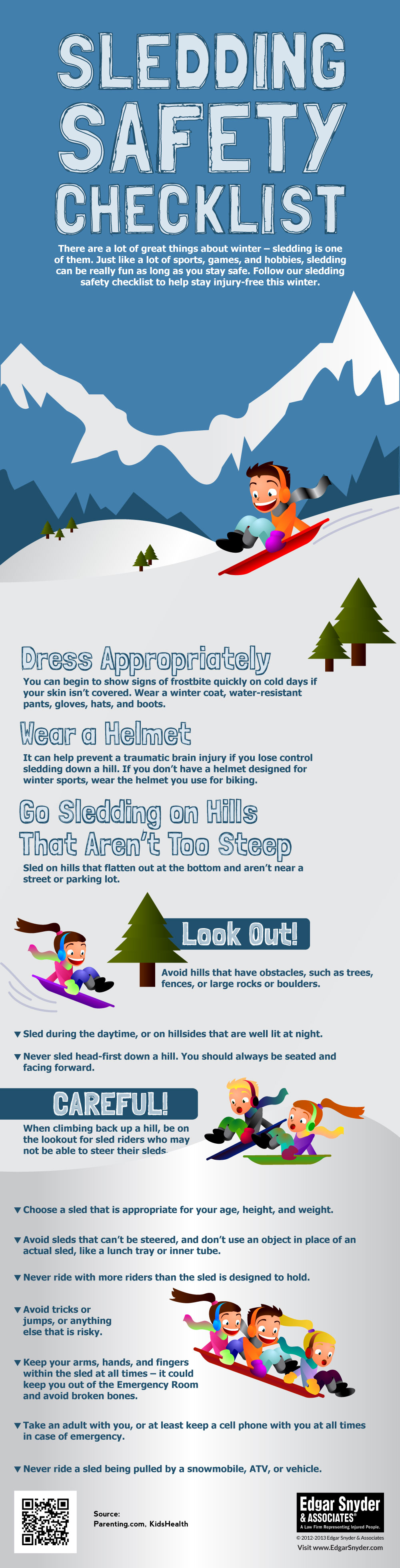 Sledding Safety Checklist - Infographic
