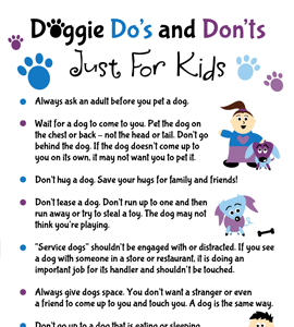 Doggie Do's and Don'ts For Kids - Infographic