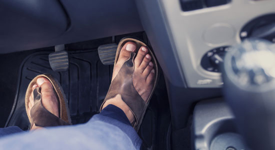 The Worst Shoes for Driving