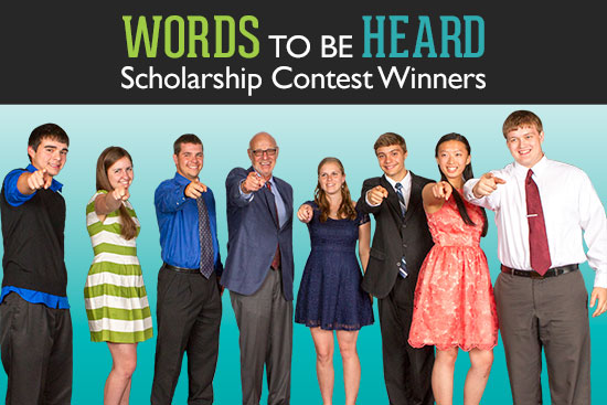 words to be heard scholarship contest