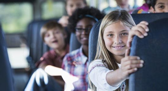 no seat belts school bus