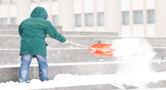 shoveling steps