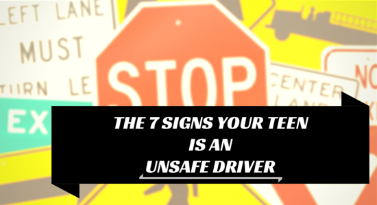 signs of an unsafe teen driver