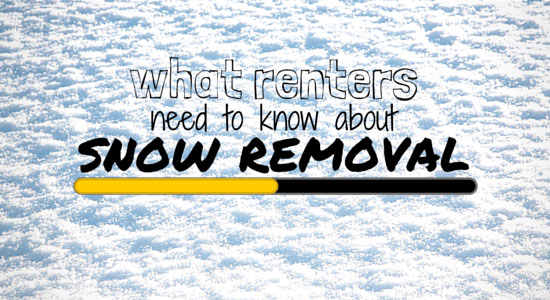 What Renters Don't Know About Snow Removal