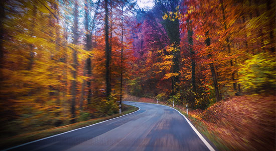 Be aware of fall driving hazards.