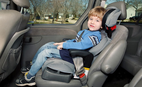 child in car seat to prevent spinal cord injury