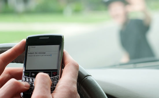 Texting while driving increases