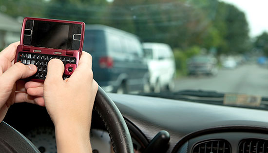 Pennsylvania teen texting on the road