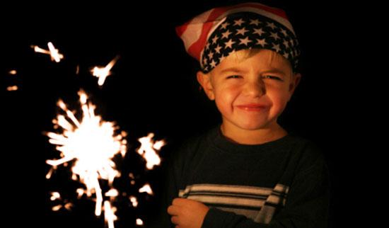 child sparkler
