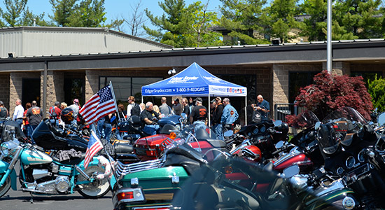 motorcycles at an event