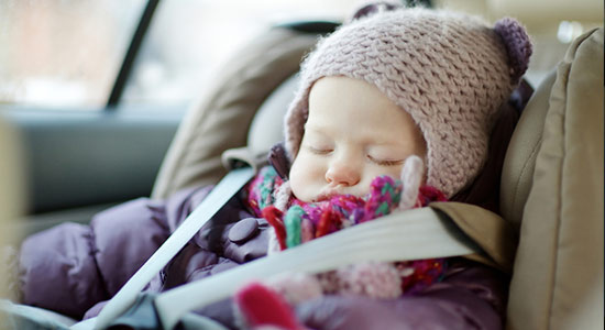 winter layers car seat
