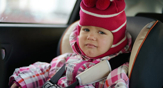 winter coat car seat