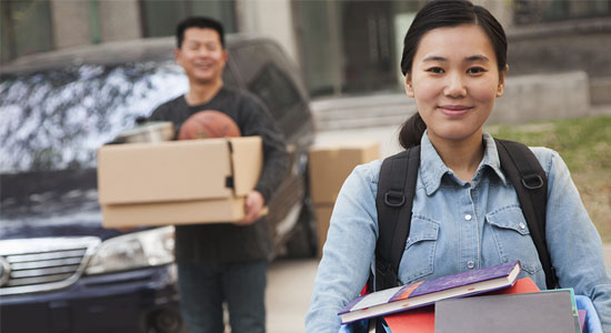 Tips for parents driving their child to college