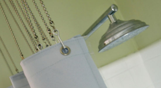 Vinyl shower curtains emit toxic chemicals