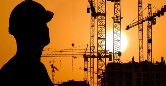 Construction Site Silhouette